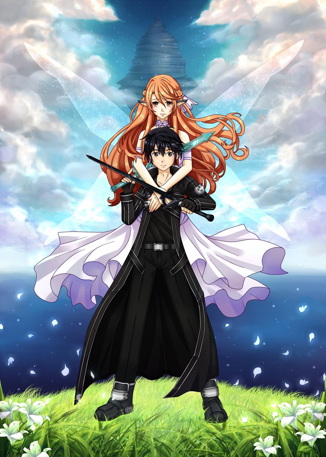 Sao Kirito And Asuna By Ichigokitten On Deviantart