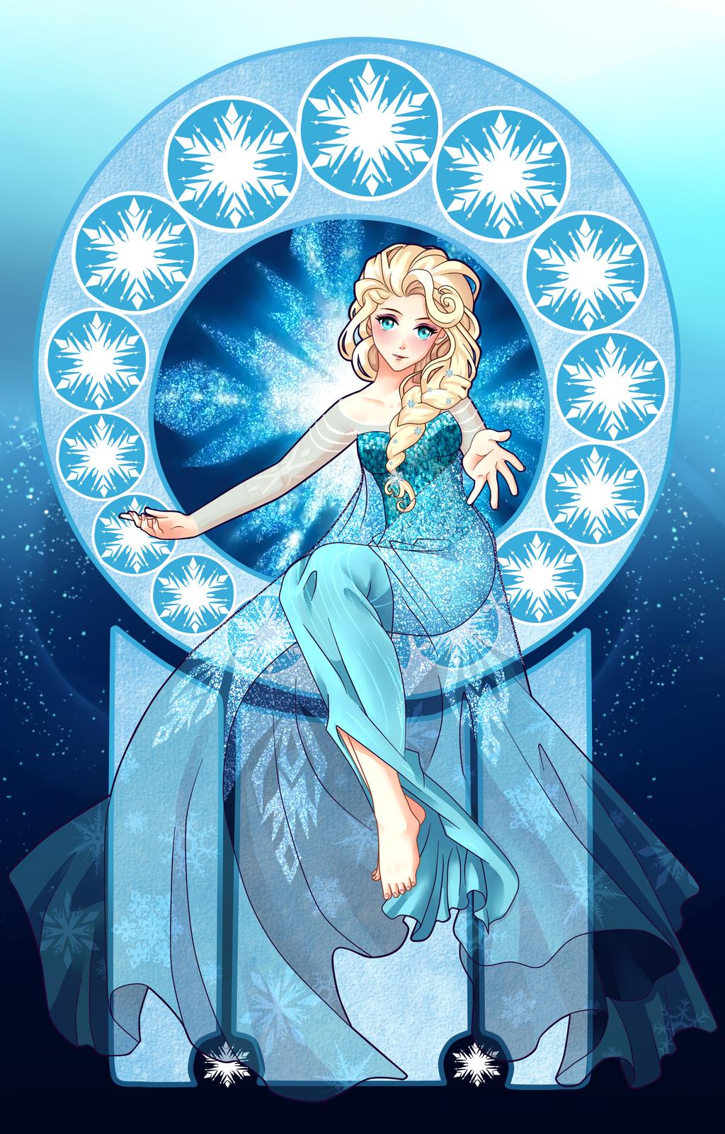 Elsa the Snow Queen by Ichigokitten