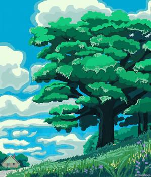 Tree-lined Path | Studio Ghibli inspired
