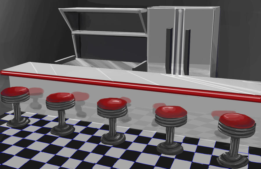 Diner Kitchen by FangedSeth