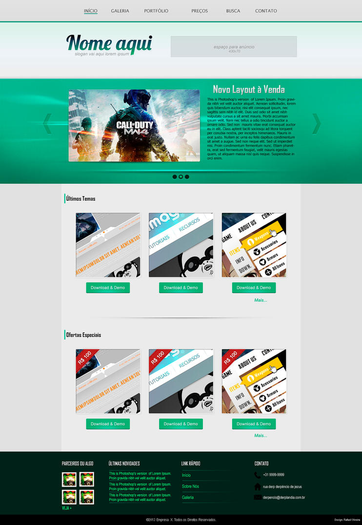 Template PSD for SALE! by mazeko