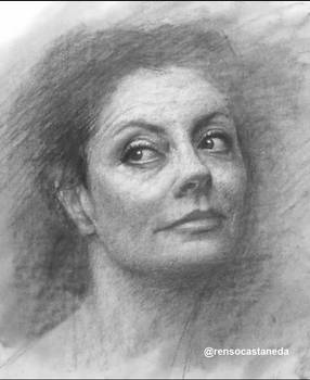Charcoal Drawing - Susan Sarandon