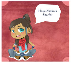 Korra Loves Mako's Scarfo by Rubrik079