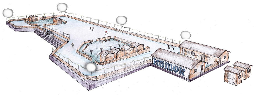 sketh of ice rink by nightovl