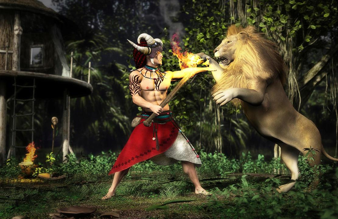 Lion Attack by richmel1