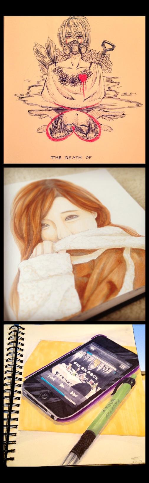 past drawings by Kouri-n