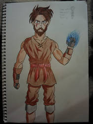 DnD Character - Riff the Wizard by SolarFlare-Art