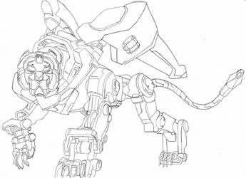 WIP - Black Lion (Voltron LD) by SolarFlare-Art