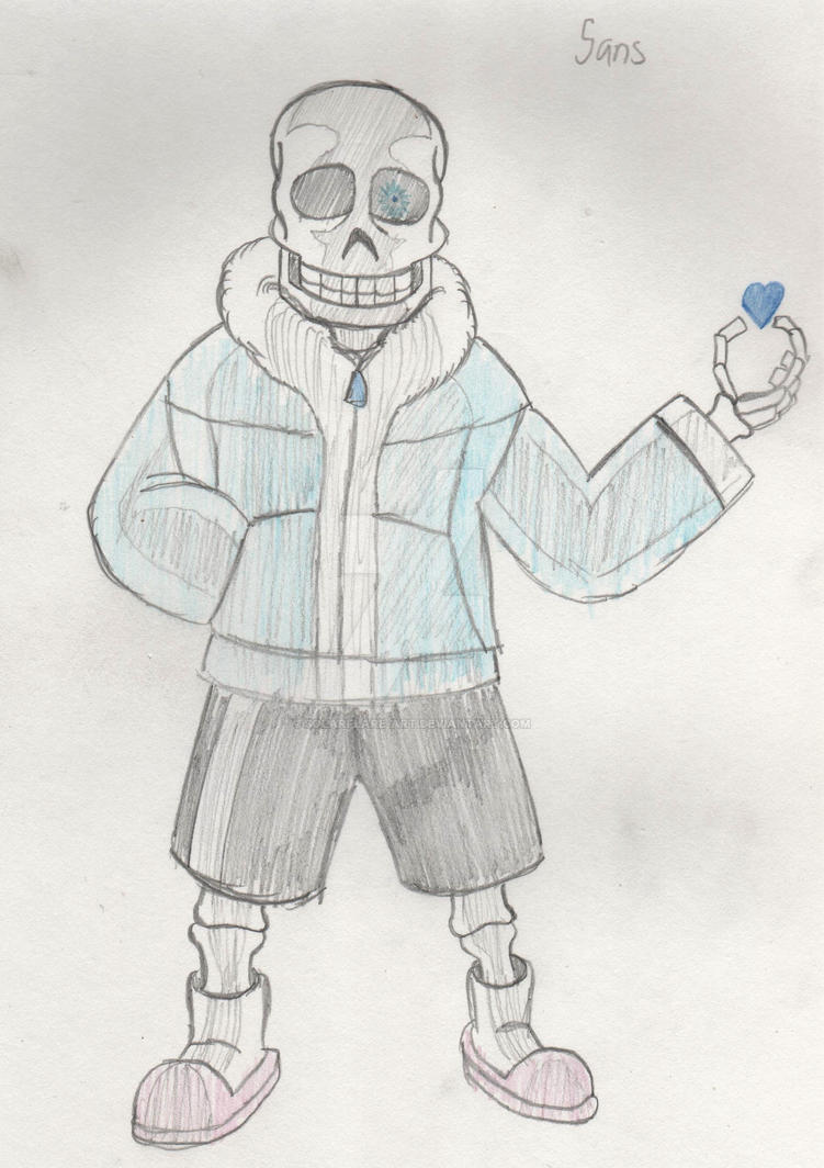 Quick Sketch - Sans the Skeleton by SolarFlare-Art