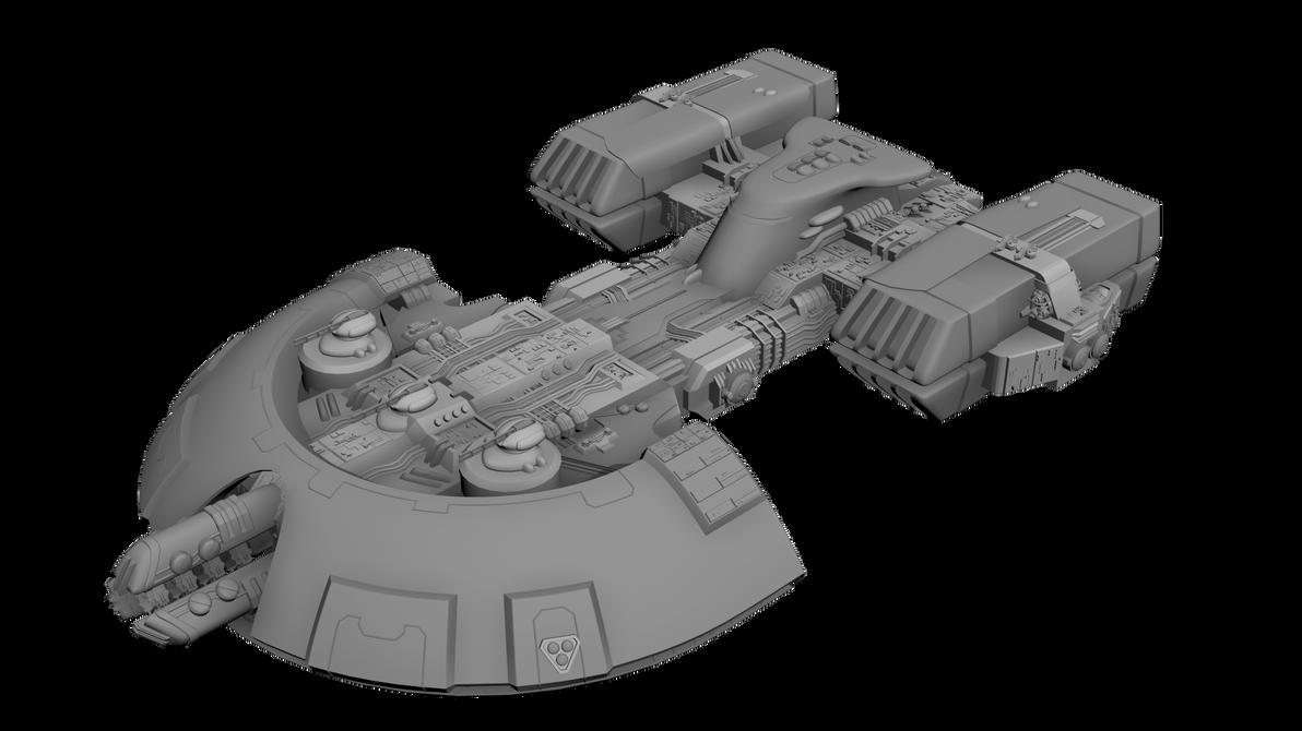 Orca: Tau escort ship concept. by M0tt0M0