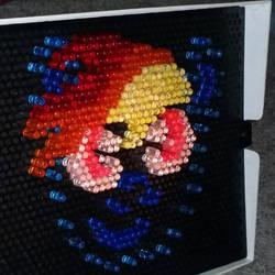 Rainbow Dash in Lite-Brite! by LucasClanCat