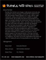Rumble Arts Press Kit pg. 2