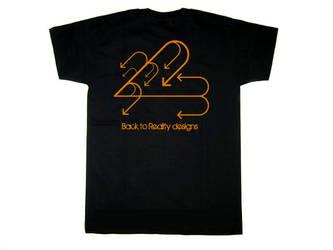 Back to reality big logo shirt by plus44maniac
