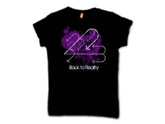 Grunge logo T-shirt by plus44maniac