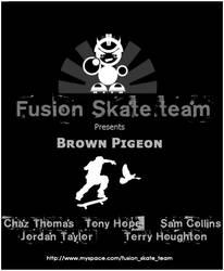 Fusion skate team flyer by plus44maniac