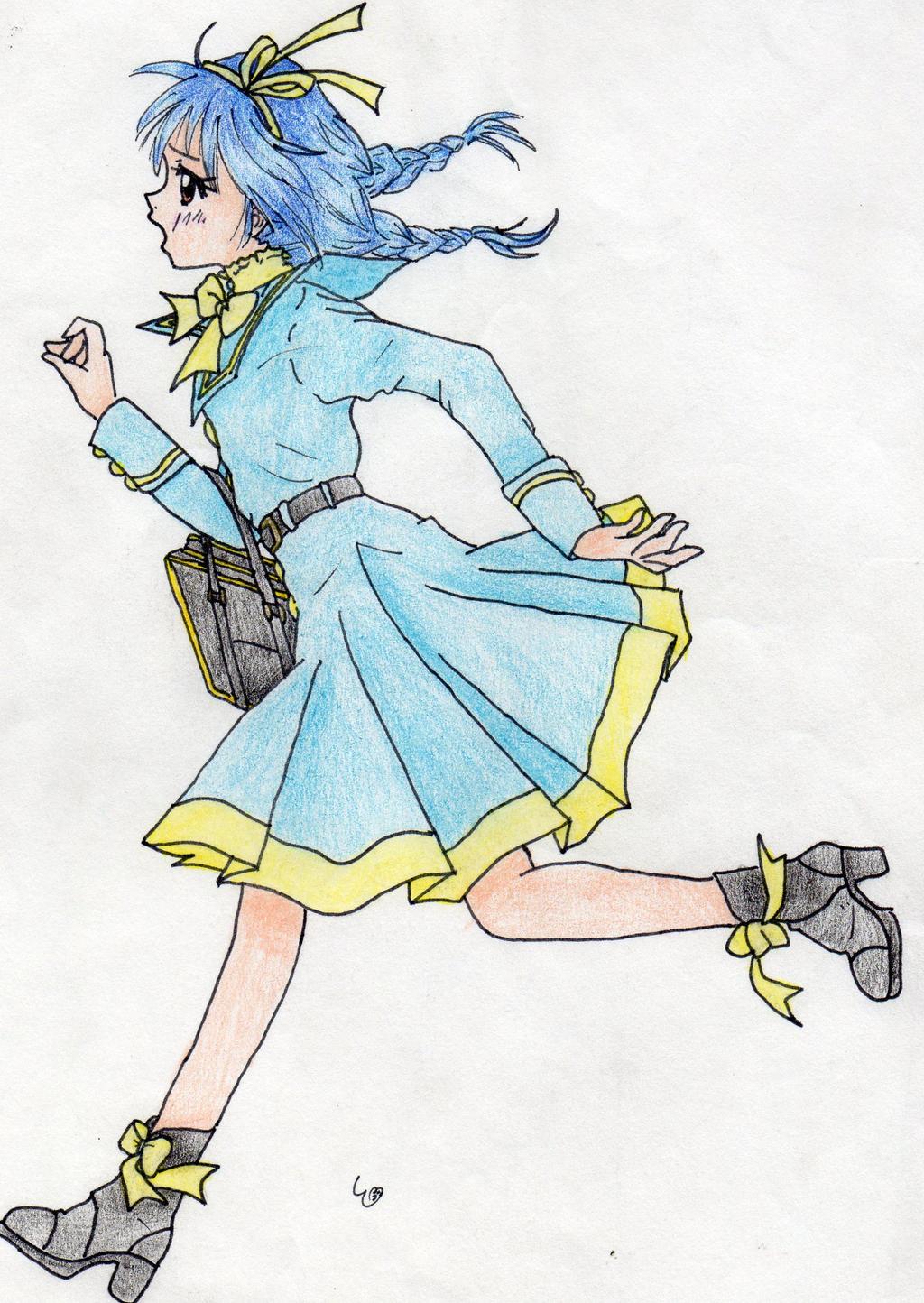 Random Running Anime Girl^^ By Swimfree