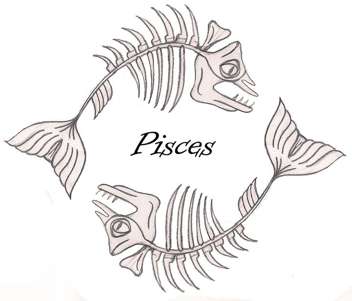 pisces tattoo rough by flegin on deviantart. Black Bedroom Furniture Sets. Home Design Ideas