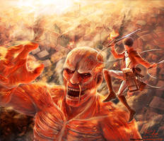 Attack on Titan by xRheax
