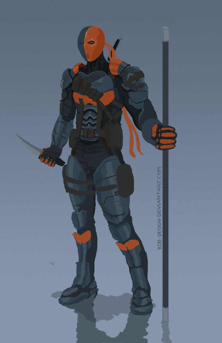 How To Draw Deathstroke From Injustice Deathstroke Arkham Origins