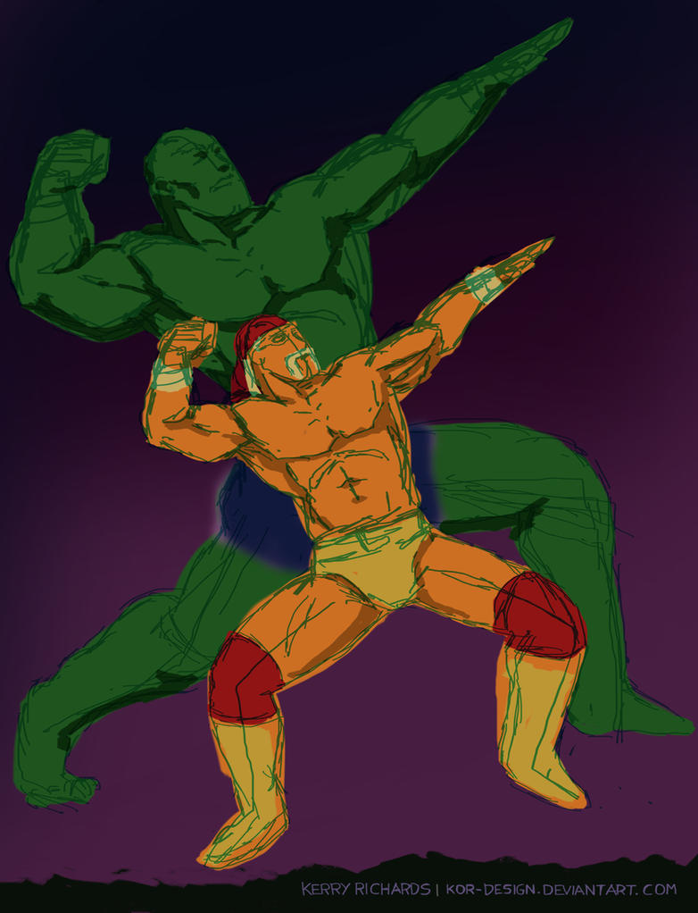 Hulkamania is Running Wild (sketch) by KOR-Design