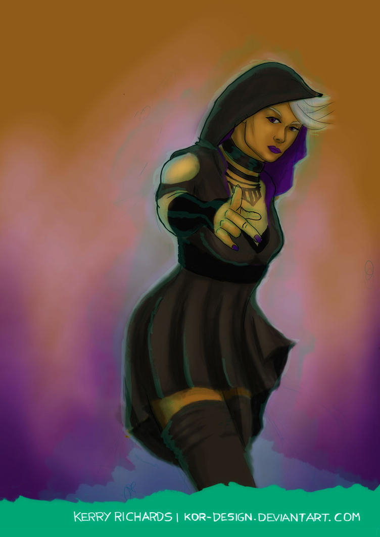Kimberley Darkthorne - The Summoner (Sketch) by KOR-Design