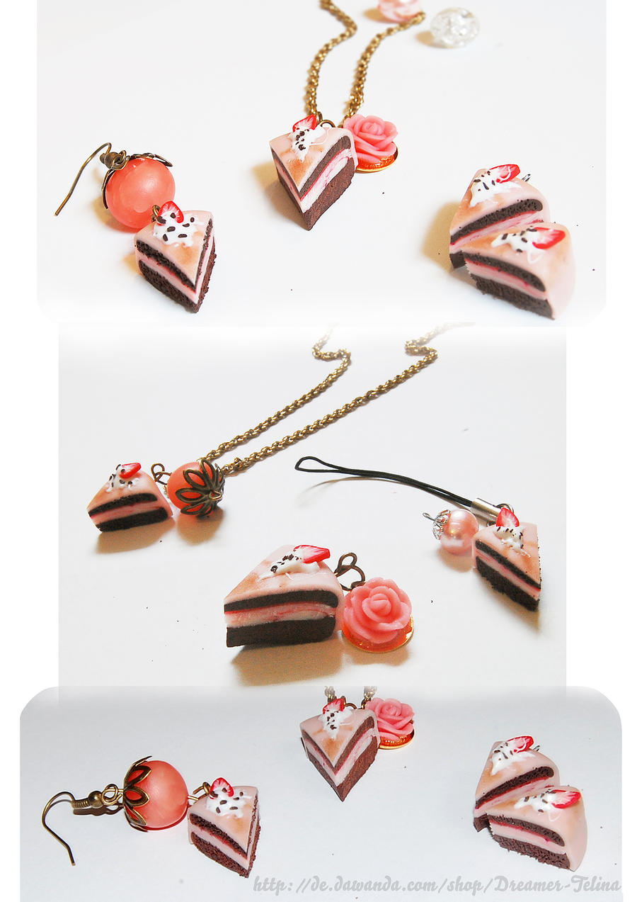cake polymer clay charm by