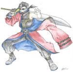 Auron in Battle
