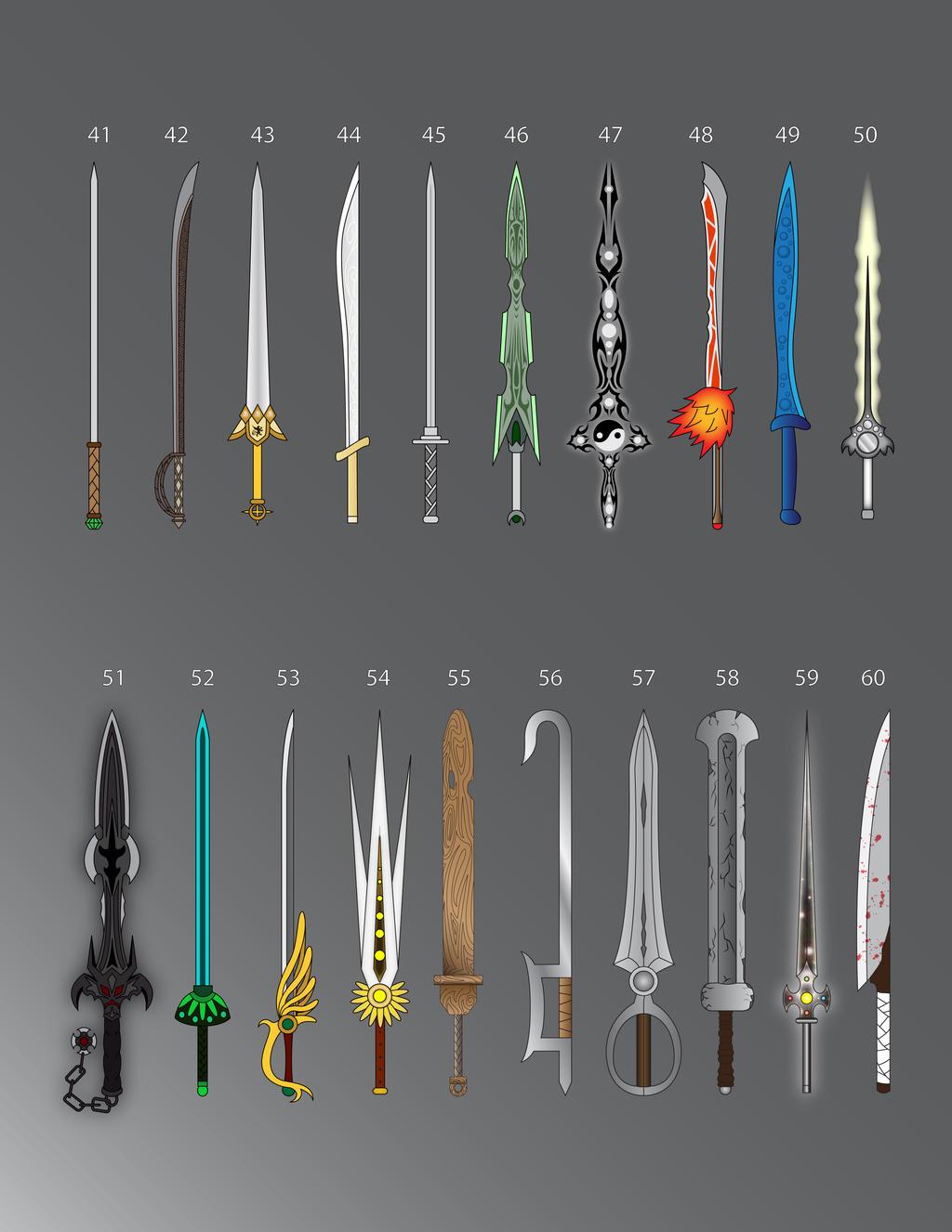 100 Swords: 41-60