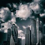 #MoscowCity #Clouds #Cityscape #Sky