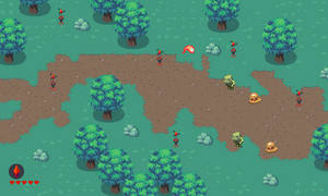 Ludum Dare: Forest Stage mockup