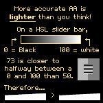 Mini Tutorial: Choosing better colors for AA