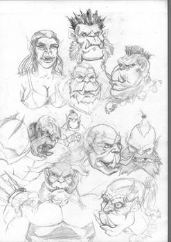Orc Sketches