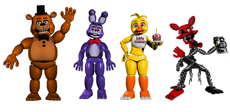 Toy Animatronics With Fnaf 1 Animatronics Color By
