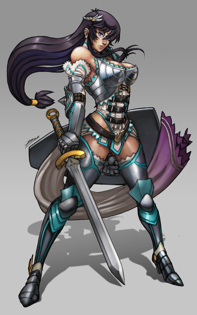Galeria de Arte: Ficção & Fantasia 1 - Página 5 Warrior_girl_by_Brolo