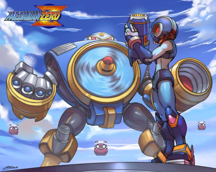 megaman vs airman by Brolo