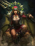 SMITE scarlet coven Isis by Brolo