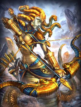 Smite Medusa gold