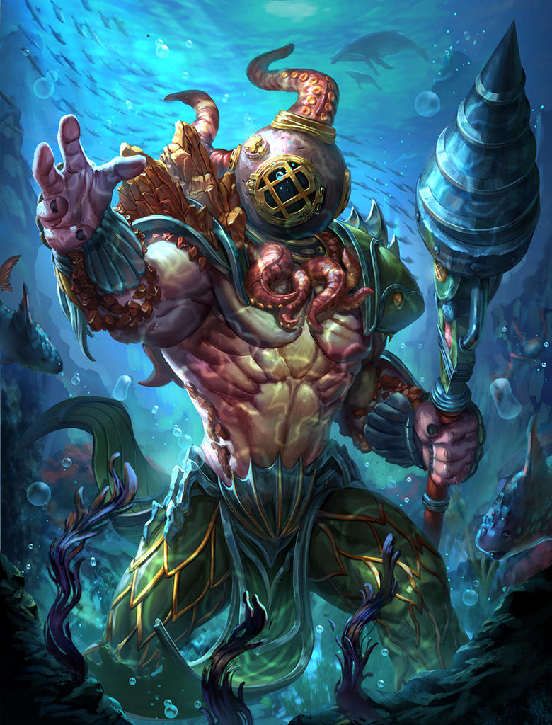 Smite Poseidon king of the deep by Brolo