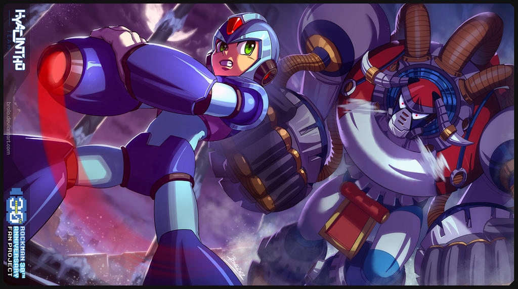 Megaman 30th anniversary tribute by Brolo
