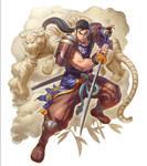 Mitsurugi character card  color