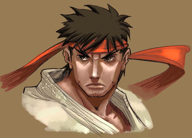 ryu s portraid by Brolo