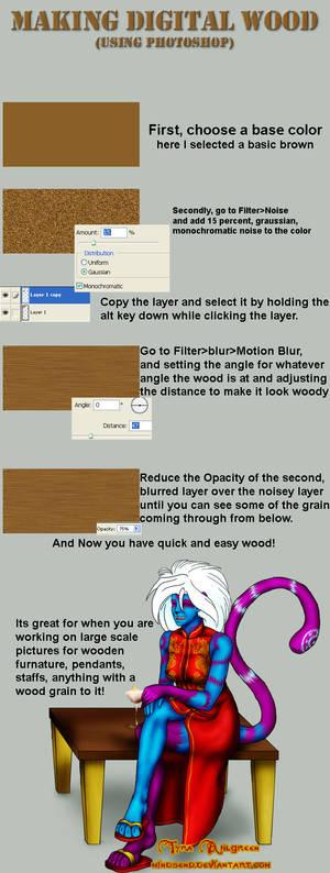 Making Photoshop Wood