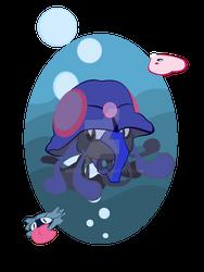 Tentacruel's Sea by SkellerArt