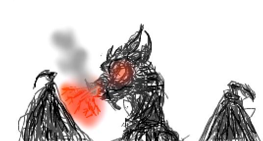 Scribble Dragon by FluffyAlbinoBacon