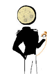 Man in the moon. Pocketwatch