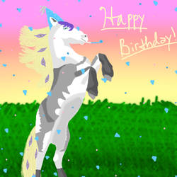 Happy Birthday Three-MustangStables!