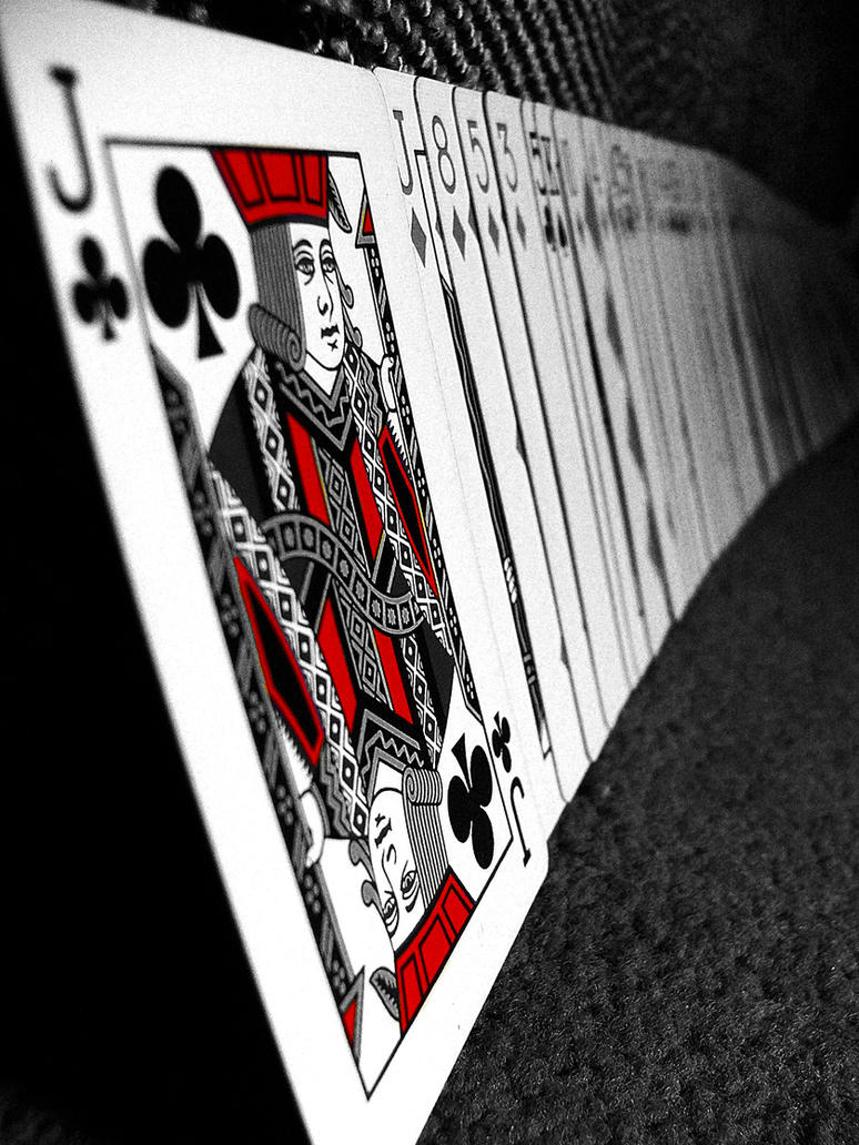 Red and white Jack of Clubs by jelenag