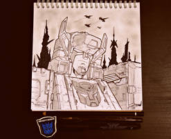 Fortress Maximus sketch by MIROSLAV-BLASTER