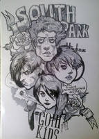 South Park Goth Kids by WolfMagnum