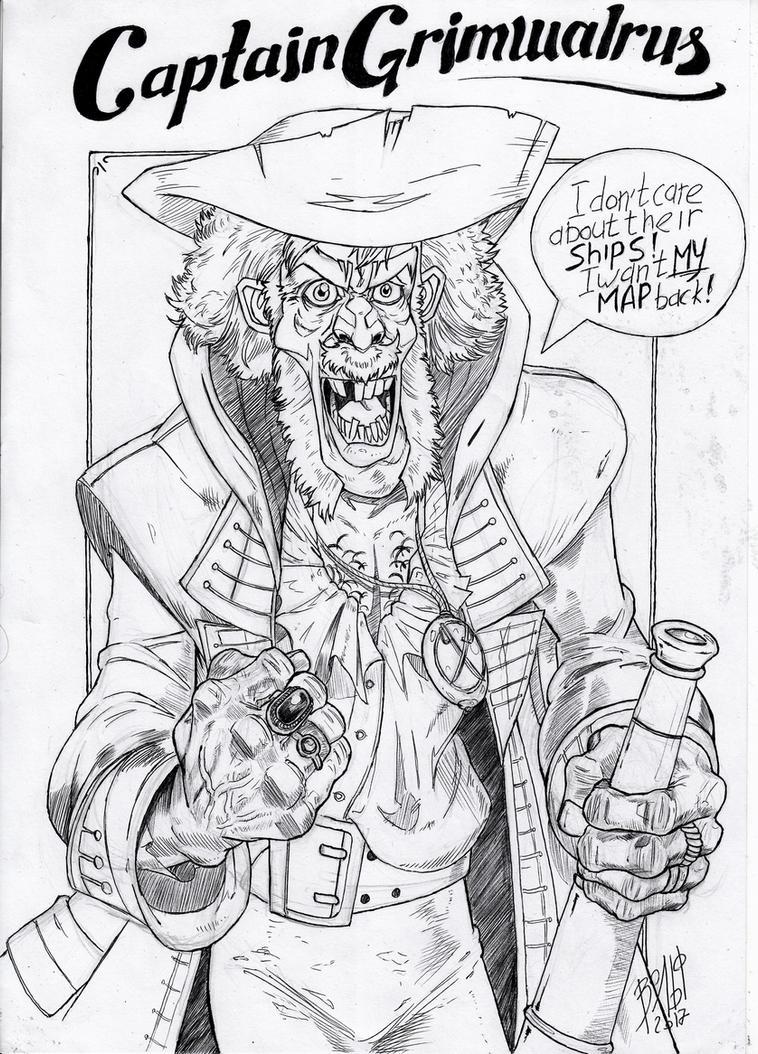 Captain Grimwalrus by WolfMagnum